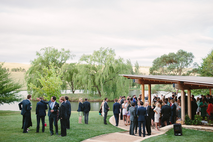 bendooley estate wedding at the lake