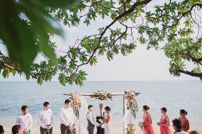 Beautiful self written personal vows at Fijian wedding