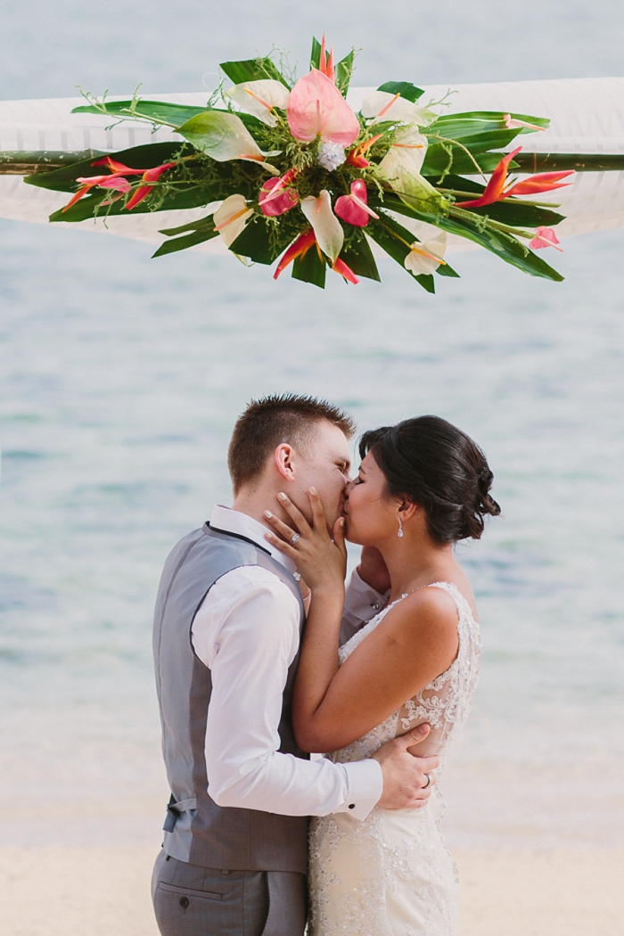 Fiji Wedding First Kiss