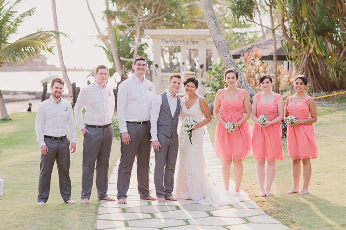 Bridal Party enjoy Fijian Wedding