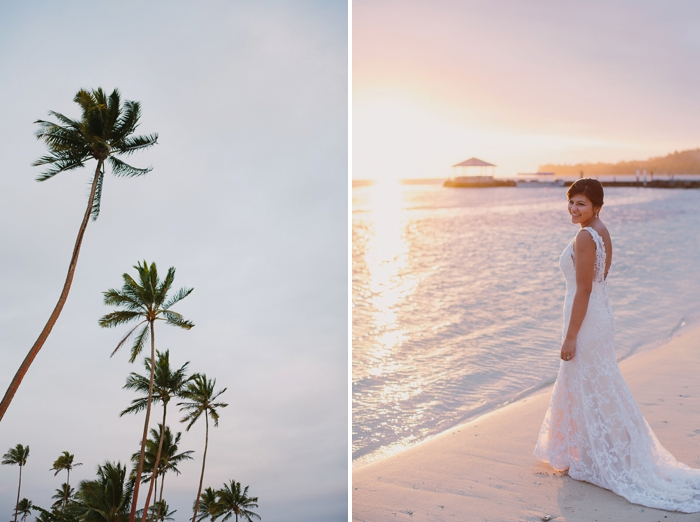 Fijian wedding photography during sunset
