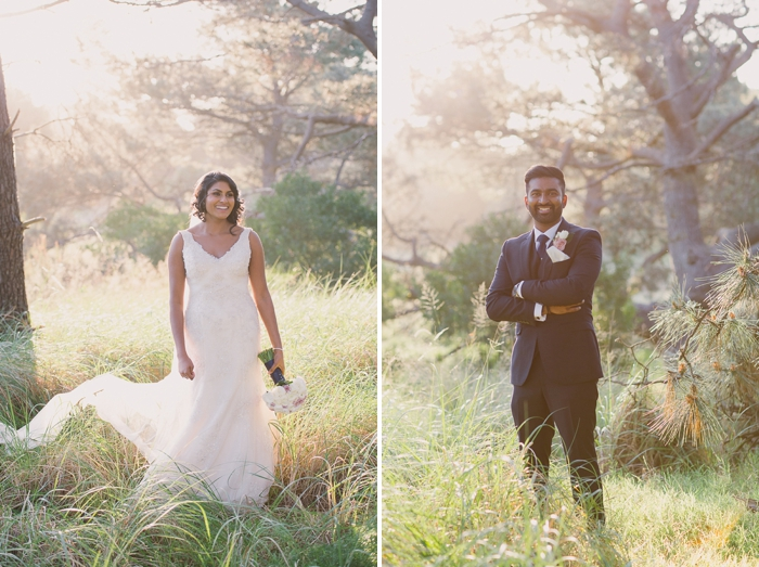 Bride & Groom looking great during Sunset