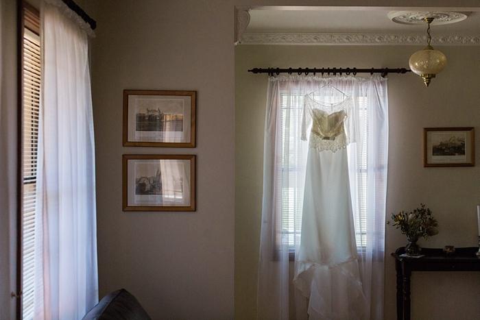 bride's wedding dress in bowral
