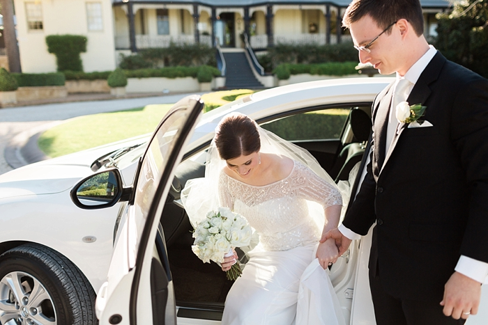 bride arrives at peppers craigieburn for wedding