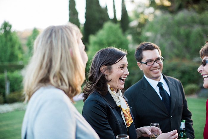 happy moments with guests at southern highlands wedding
