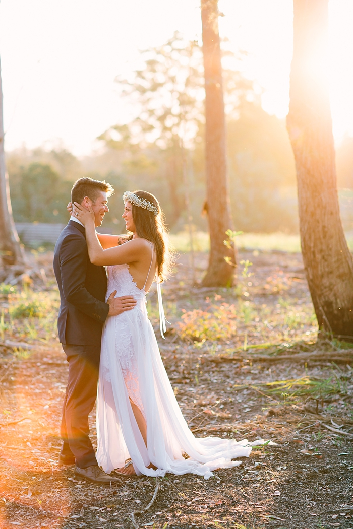 sunset farm wedding photography