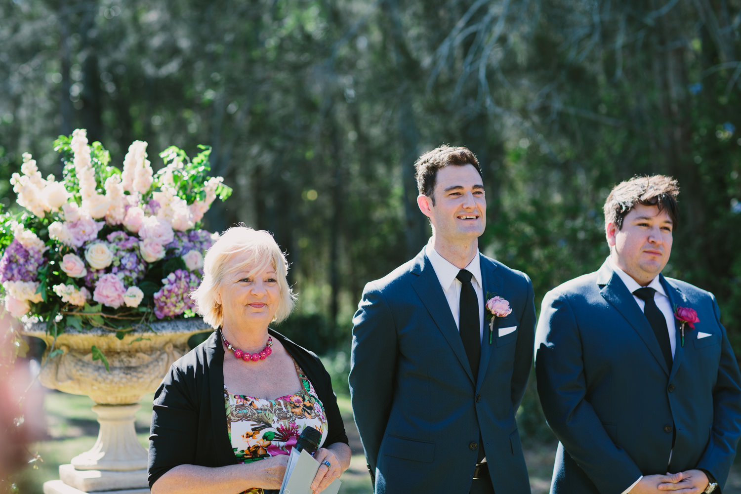 Groom sees his bride for the first time at Hunter Valley