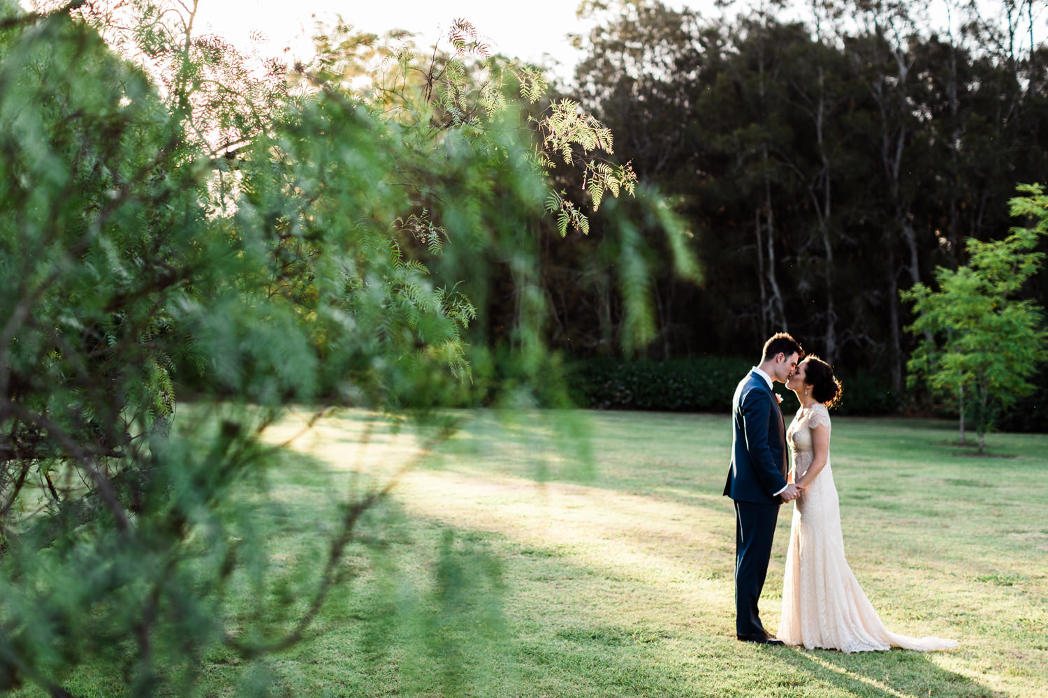 Backlit wedding portraits in the Hunter Valley