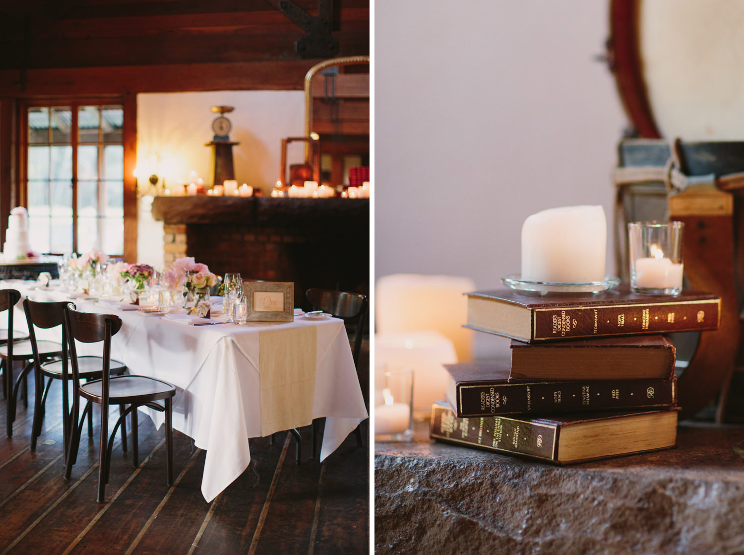 Pretty wedding table and styling at Hunter Valley wedding