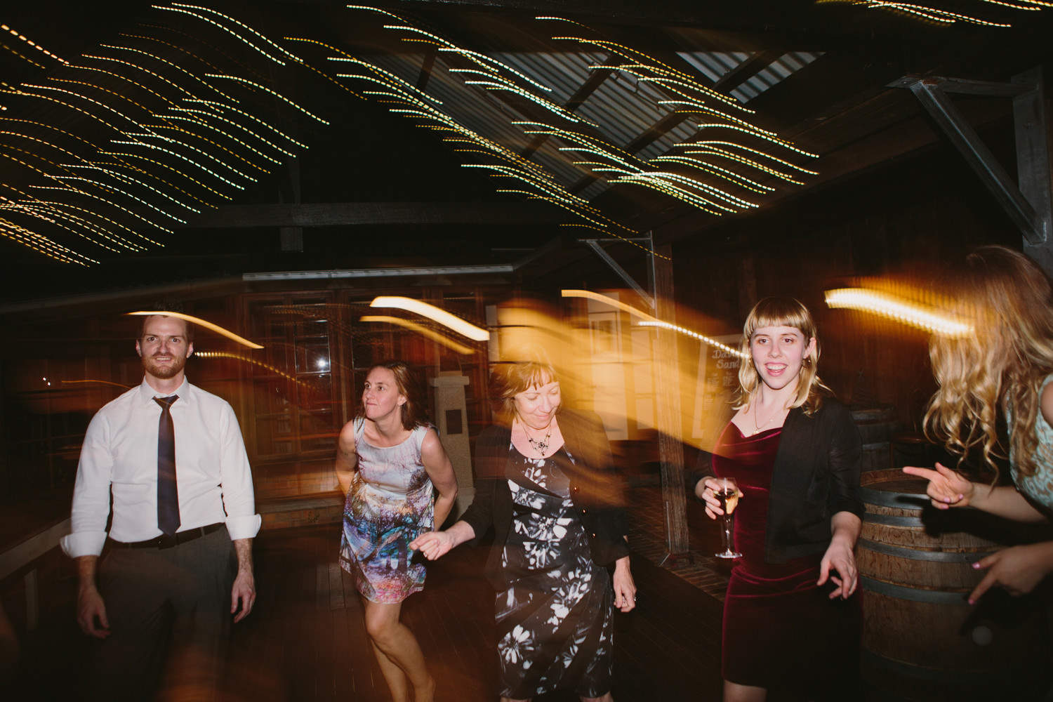 Dancefloor fun at Hunter Valley wedding