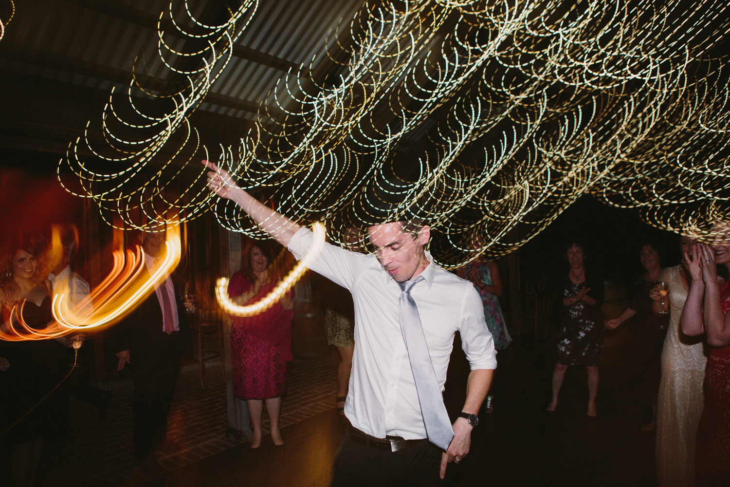 Brides brother dancing the night away to celebrate