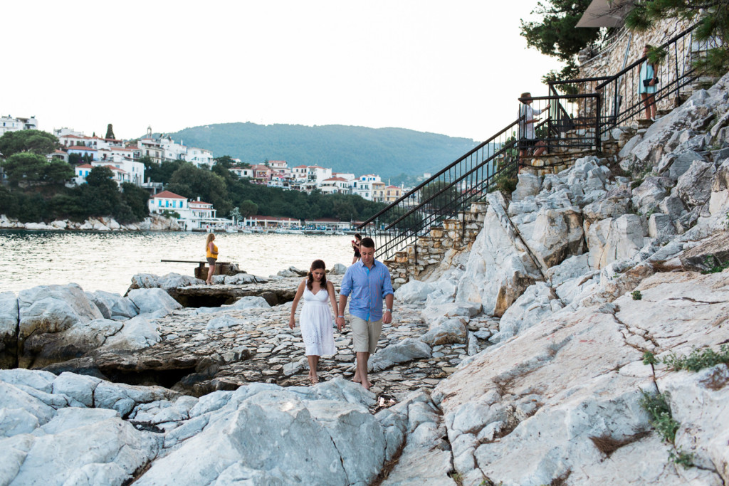 walking together in skiathos