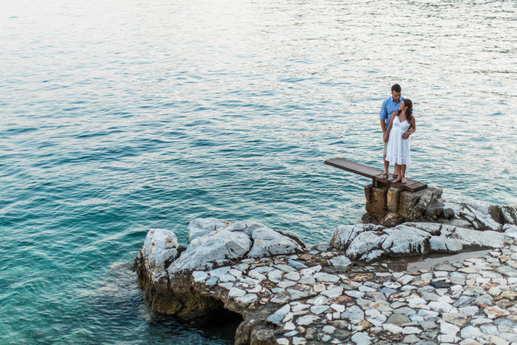 engaged in skiathos on the greek islands