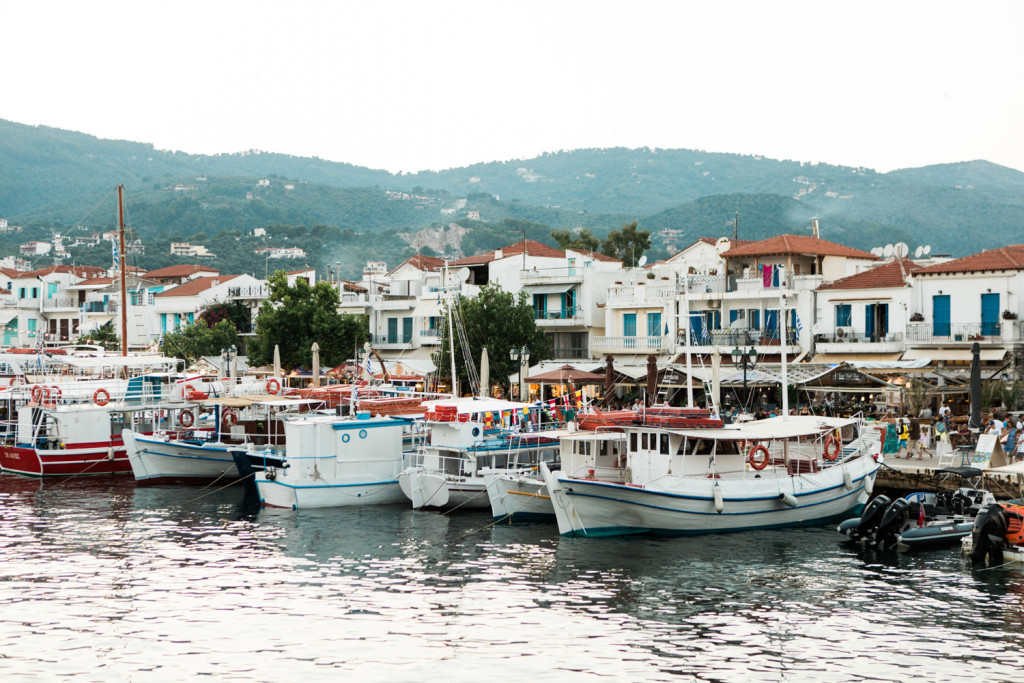 skiathos old port photos