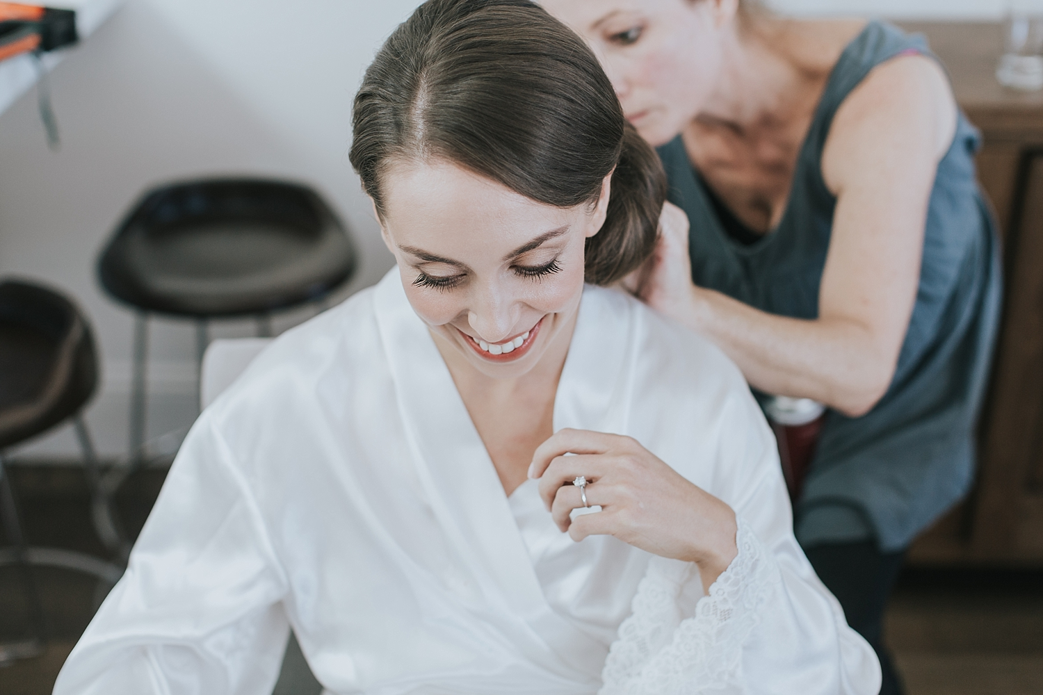 sydney wedding bride during preparations