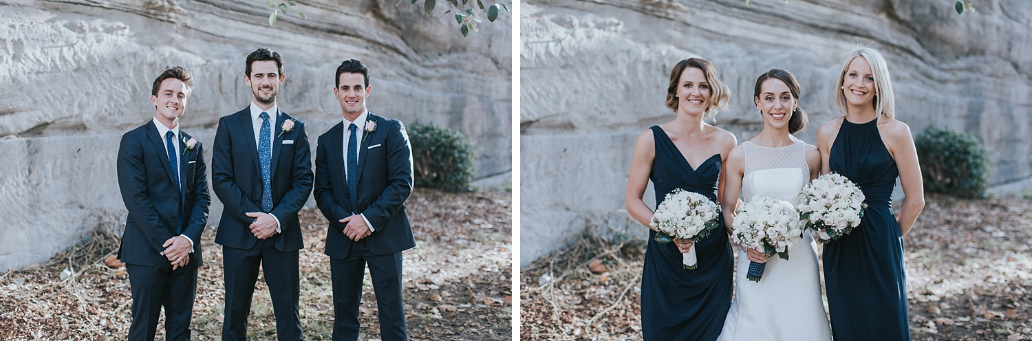 bridal party looking amazing in the rocks sydney