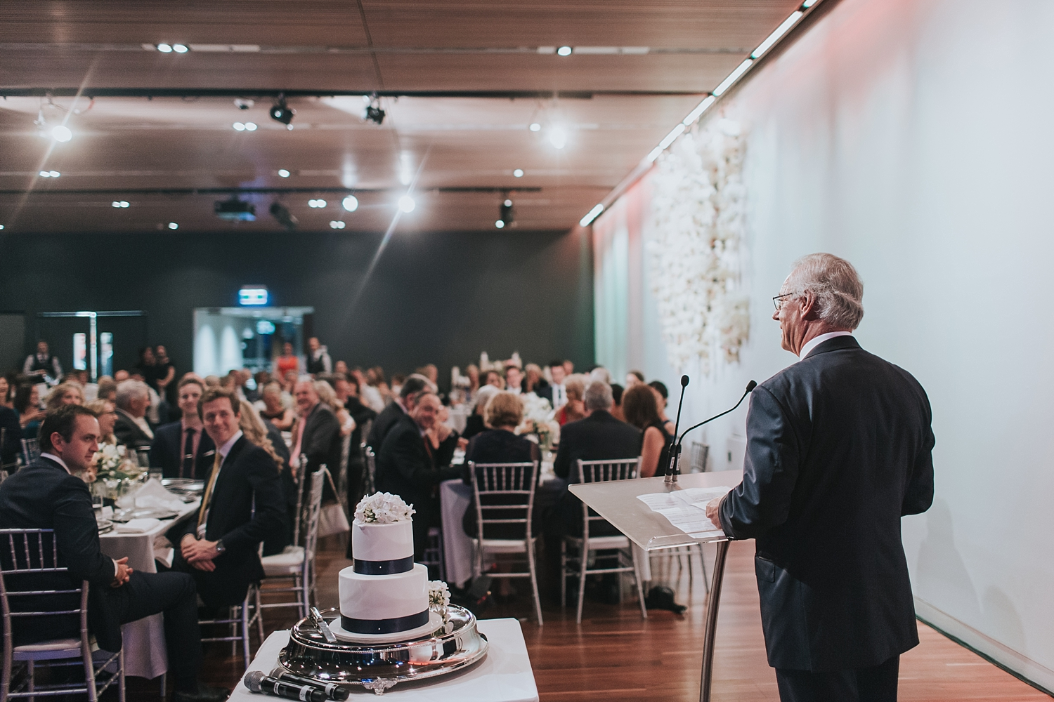 father of the bride gives a speech at sydney wedding
