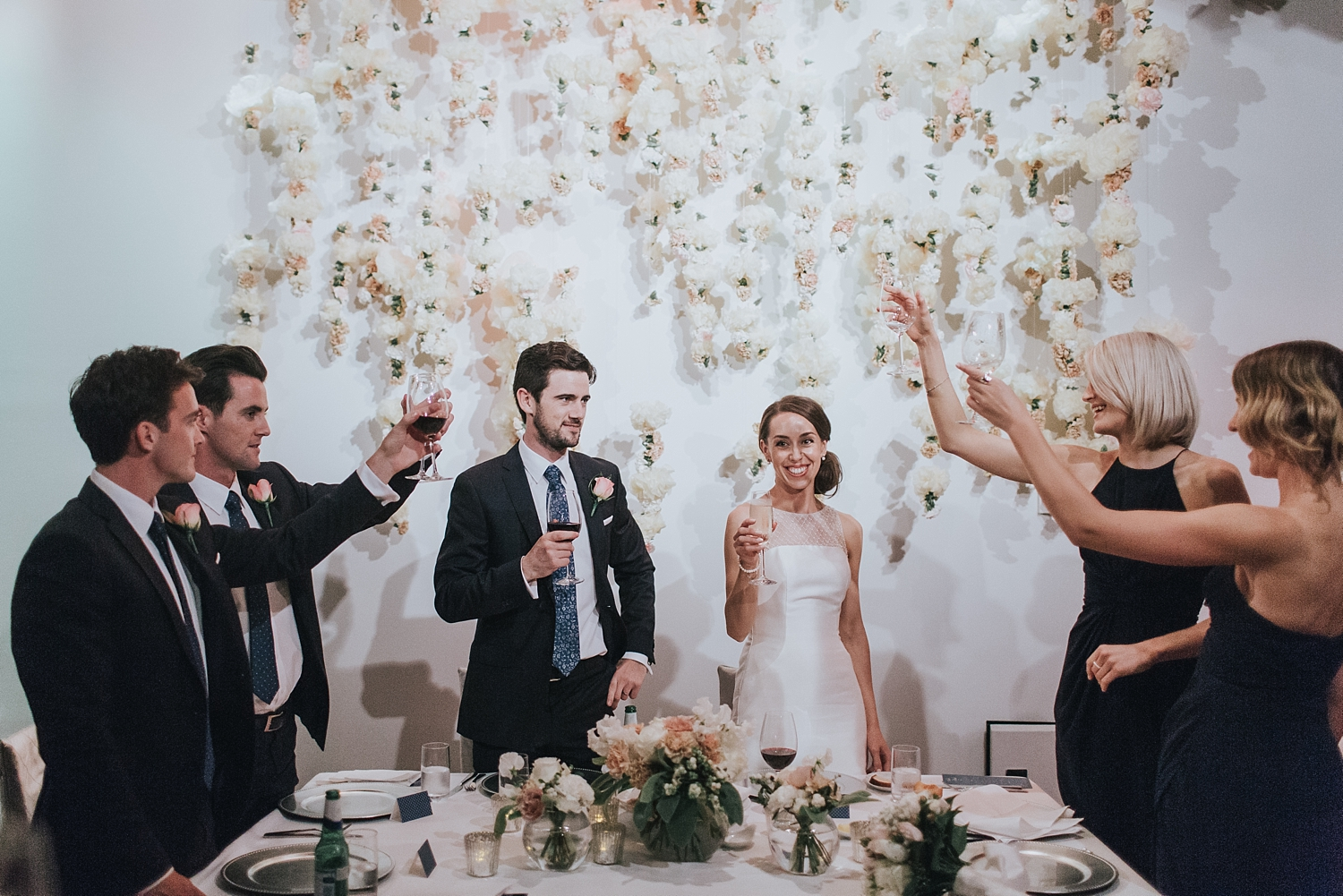 a toast for the bride and groom in sydney