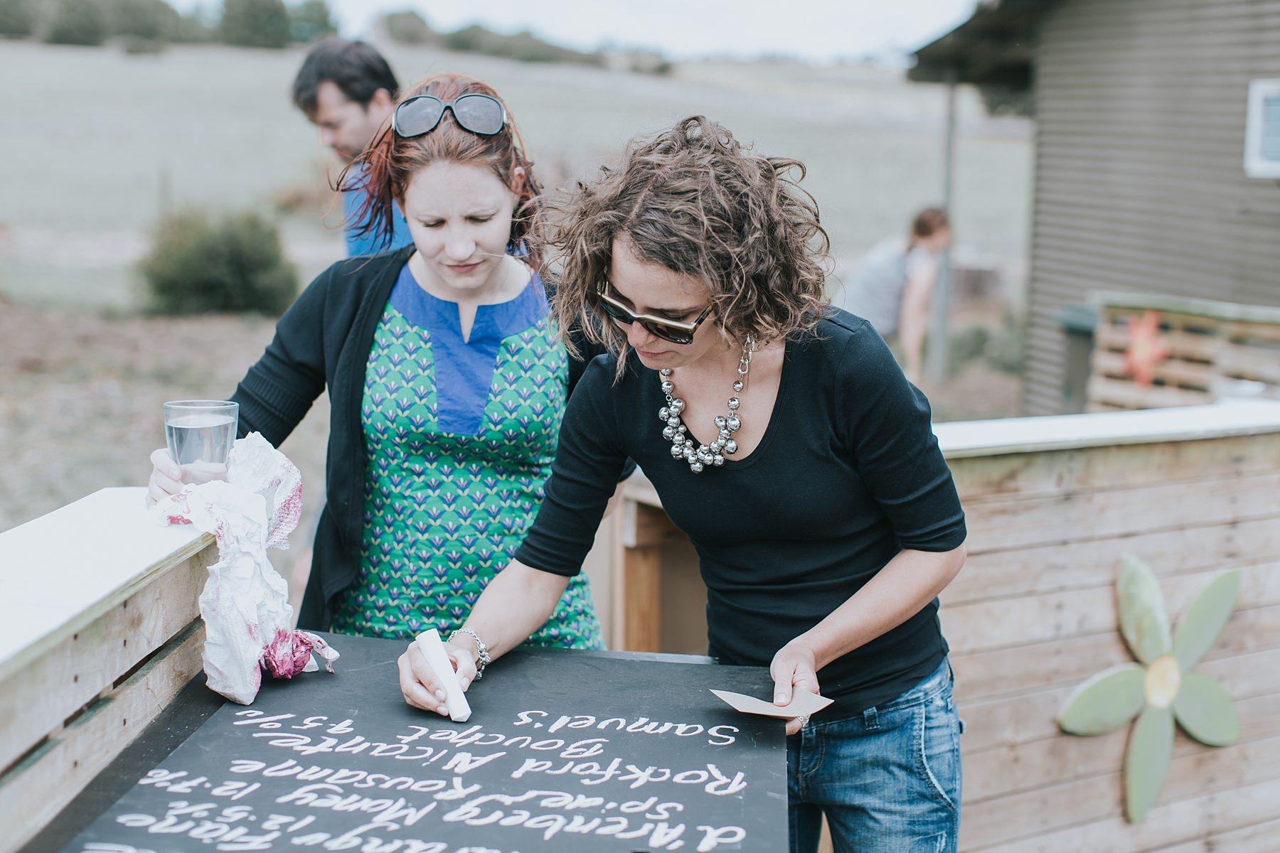 making signs for narnu farm wedding