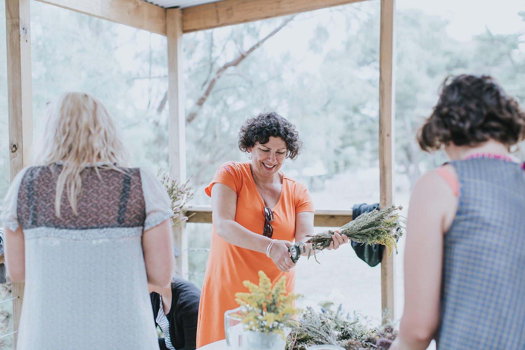 wedding diy on balcony at narnu farm