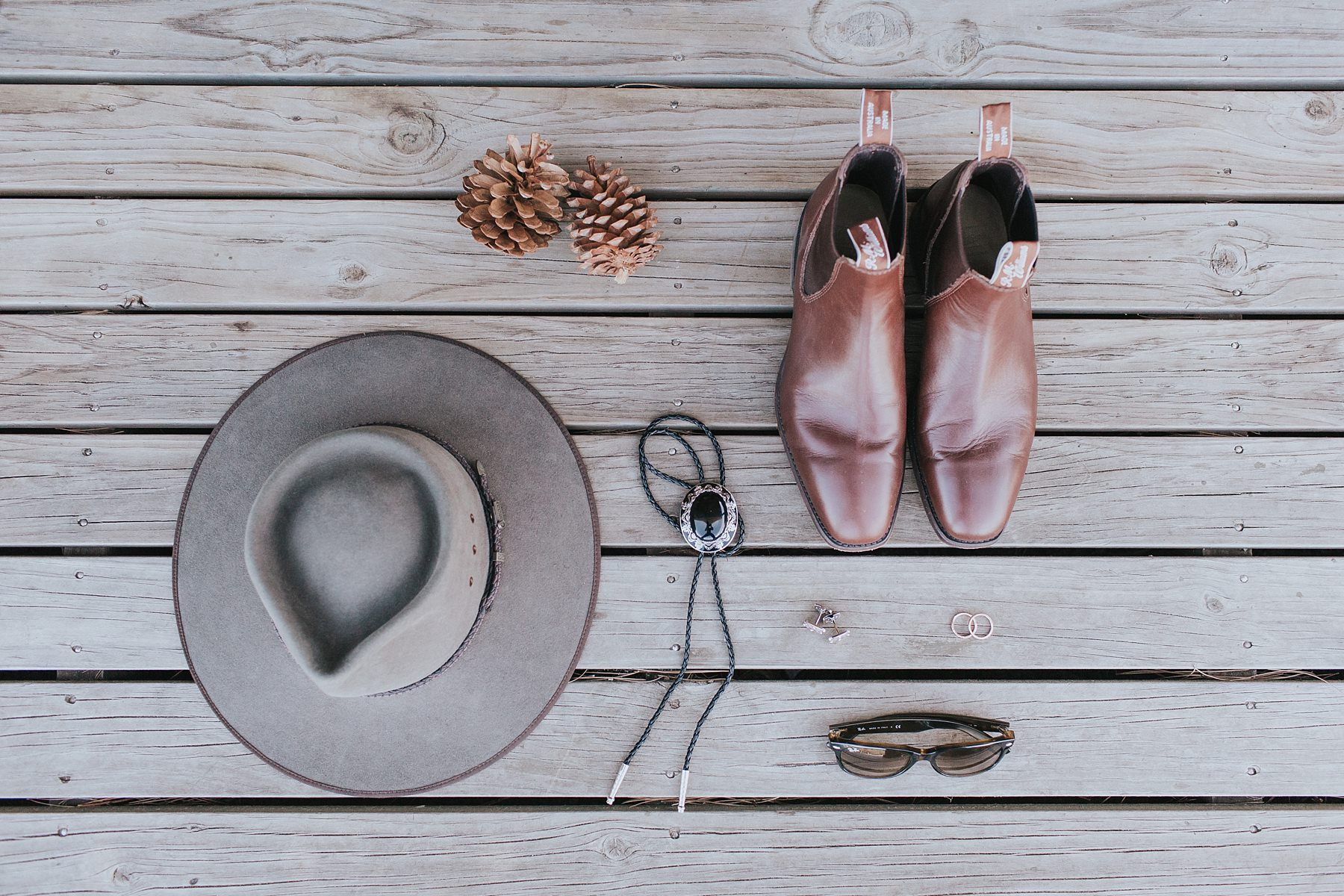 groom shoes and accessories on wedding day