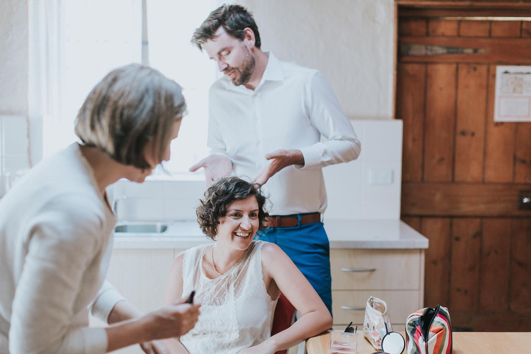 bridal hair and makeup preparations