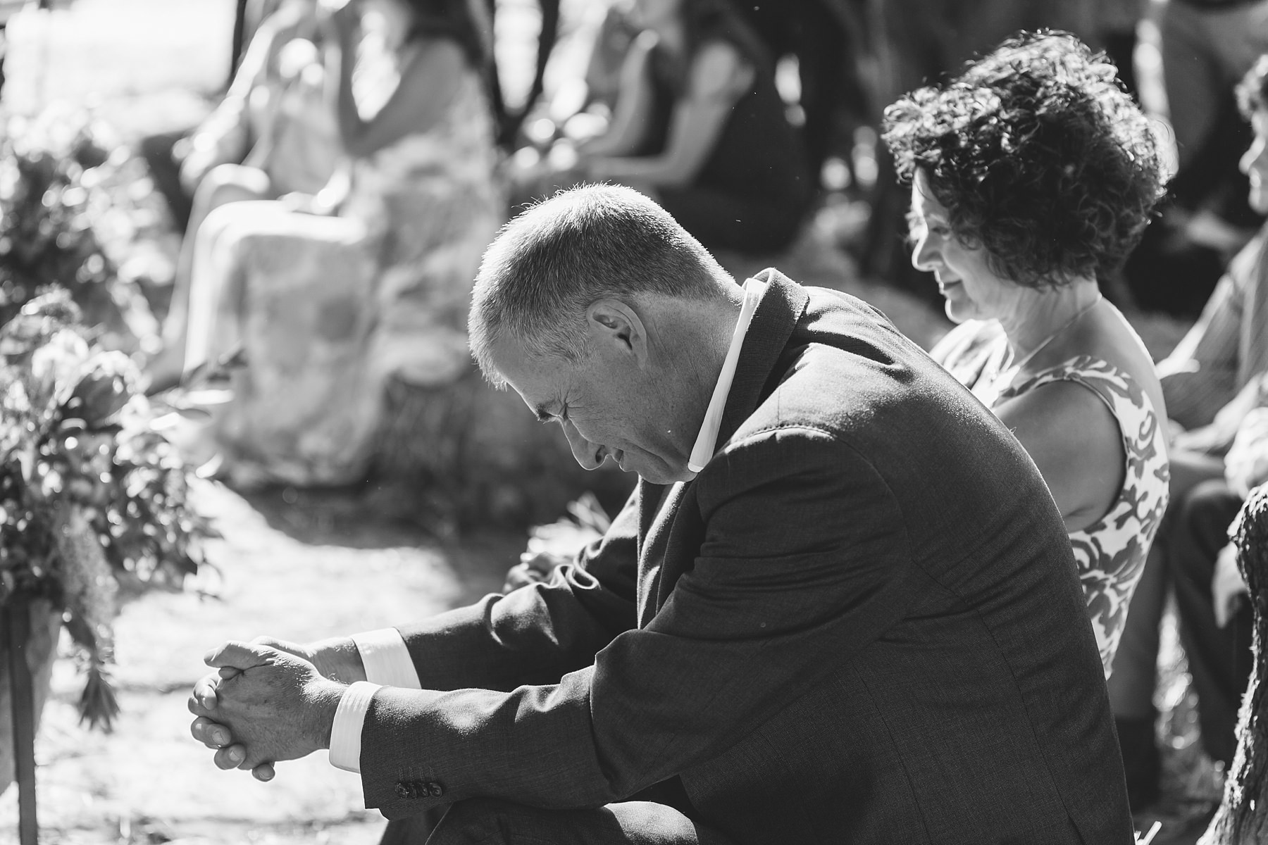 bride's father overcome with emotion