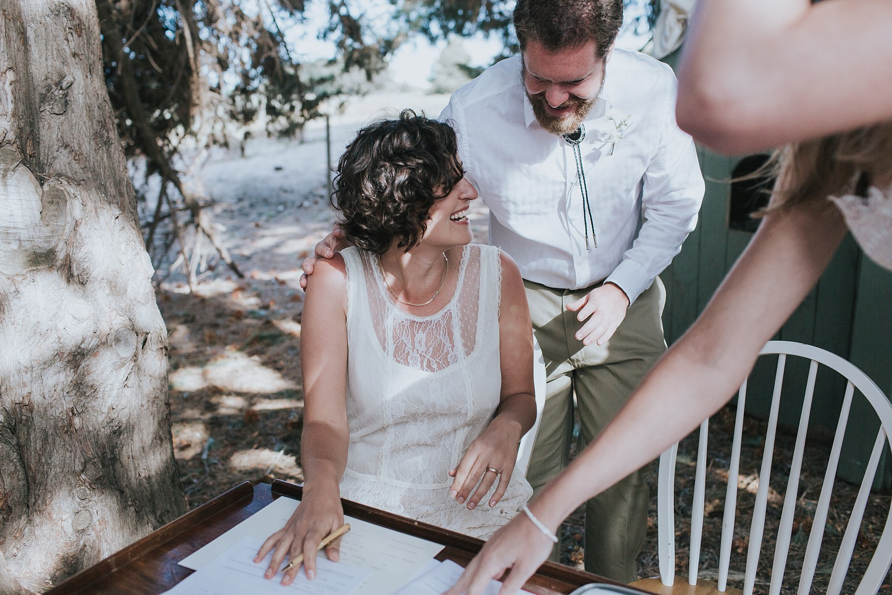 bride signs the marriage register