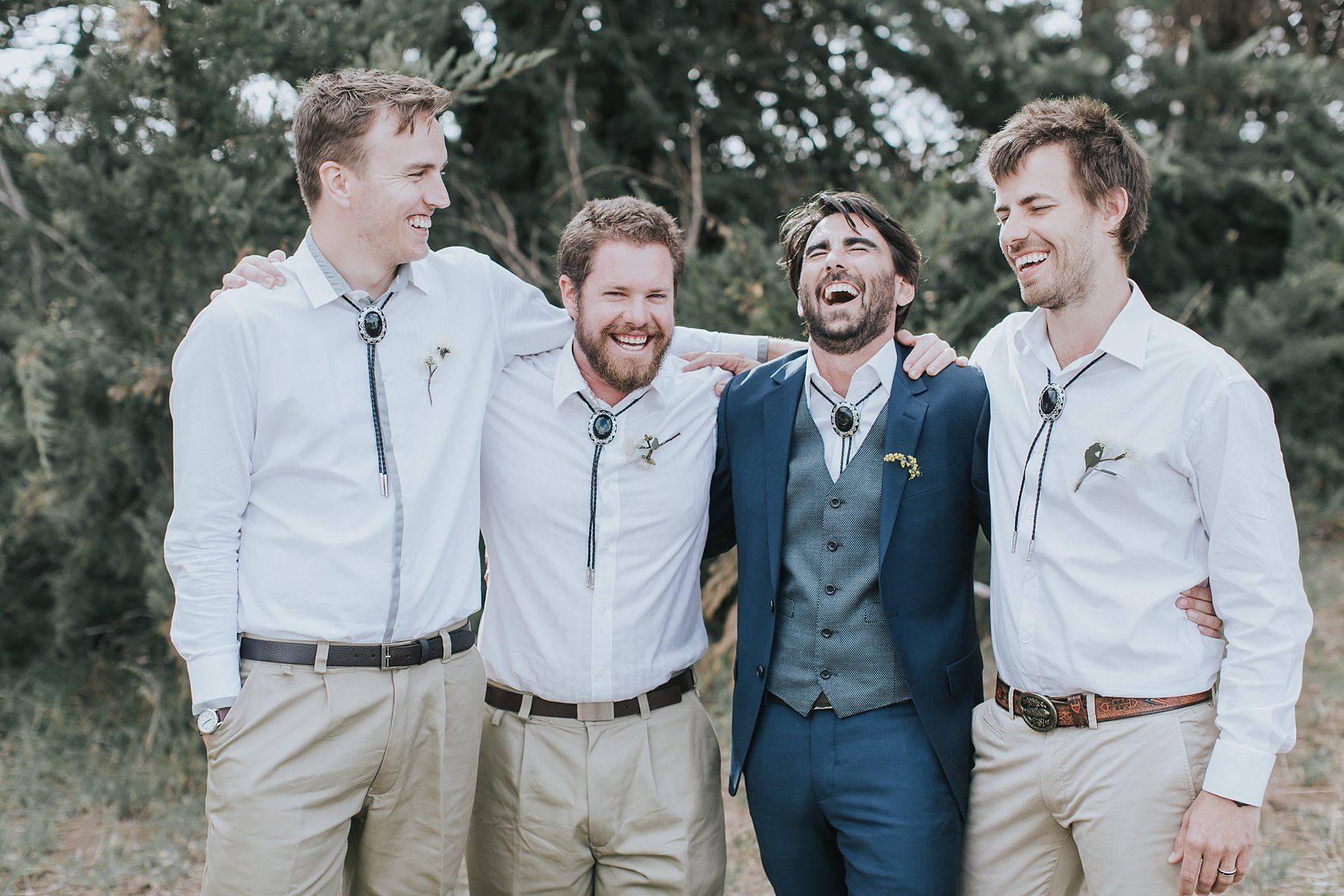 lots of laughter with groomsmen