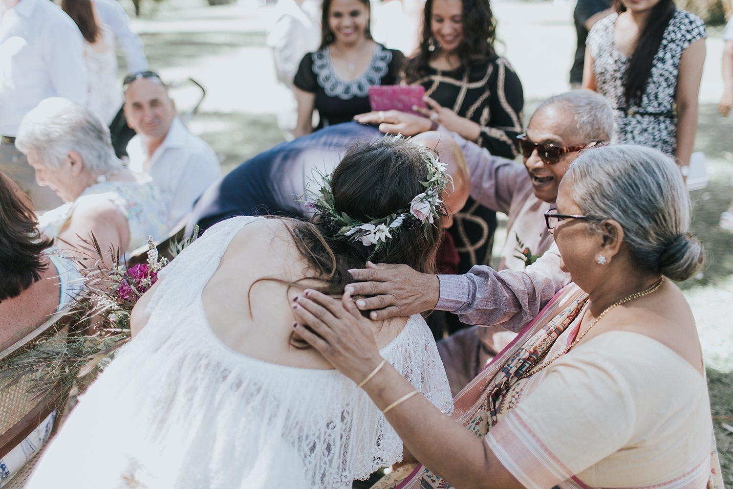 indian parent blessing after ceremony