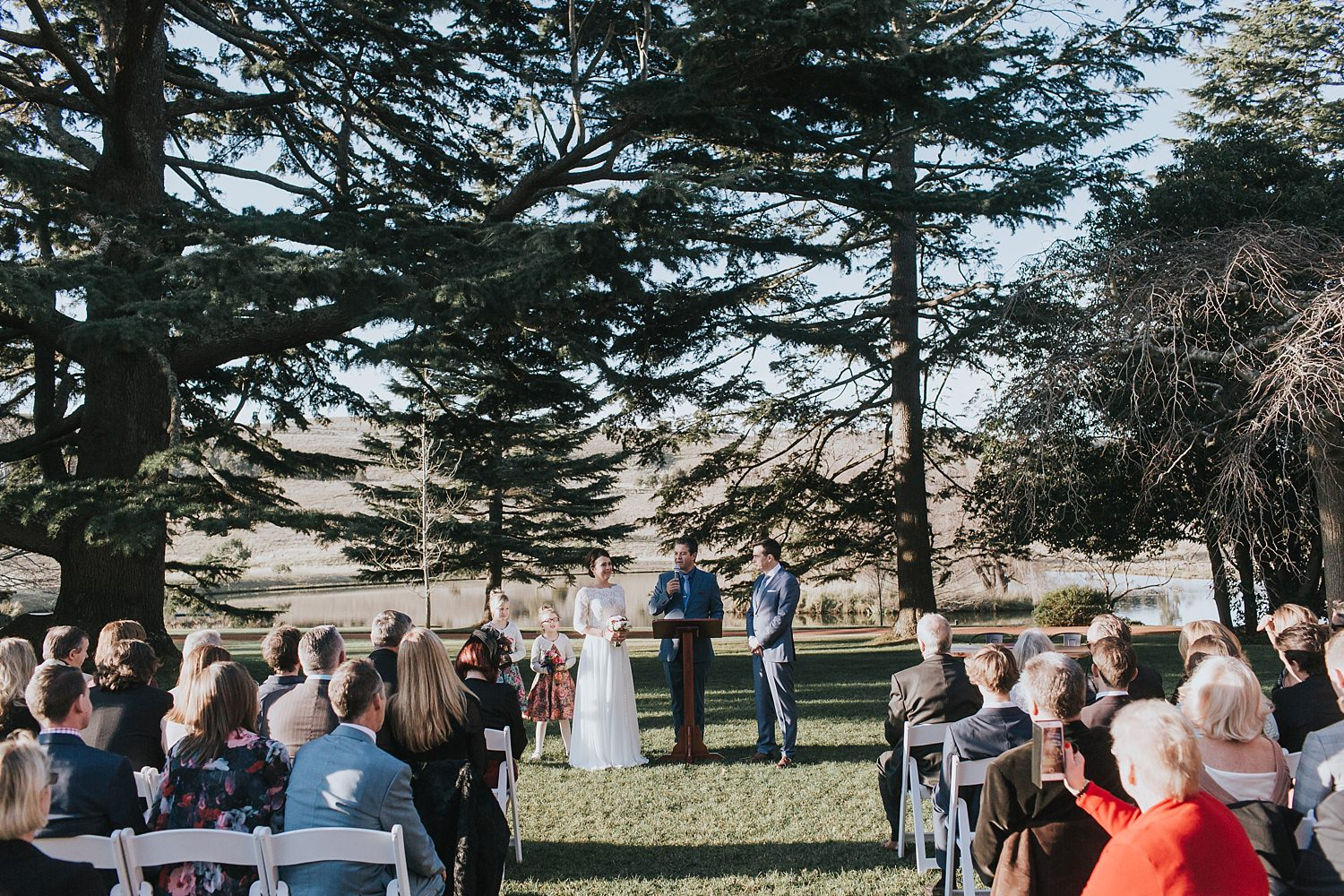 southern highlands sunset wedding ceremony