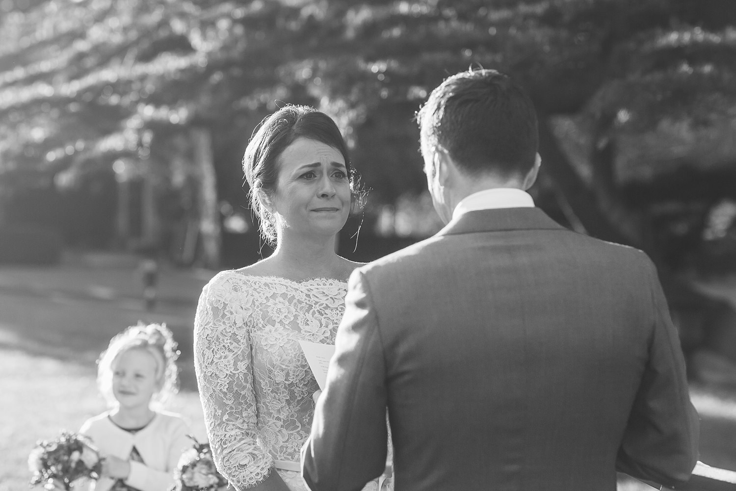 genuine emotions photographed at bendooley estate wedding ceremony