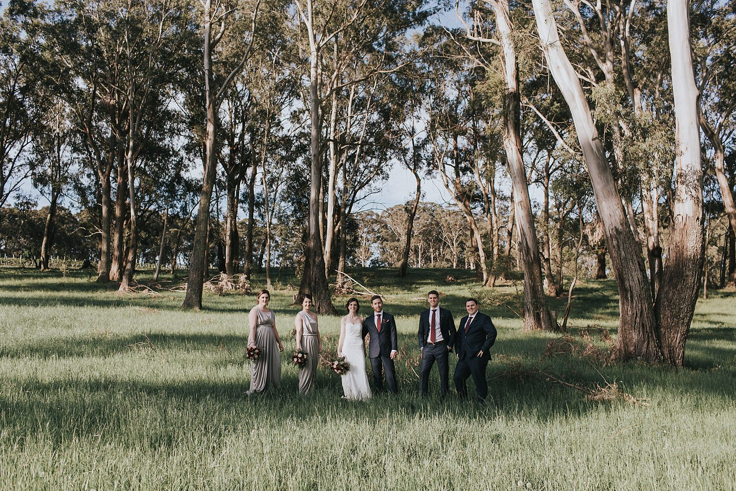 rustic wedding party portraits in bowral
