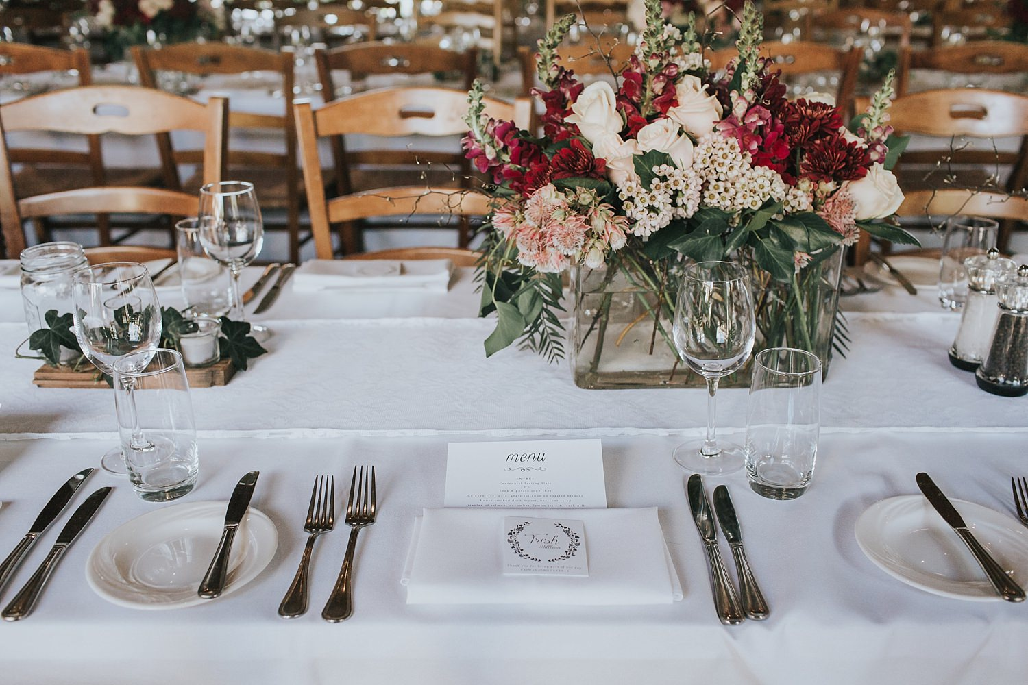 table styling for bowral wedding at centennial vineyards