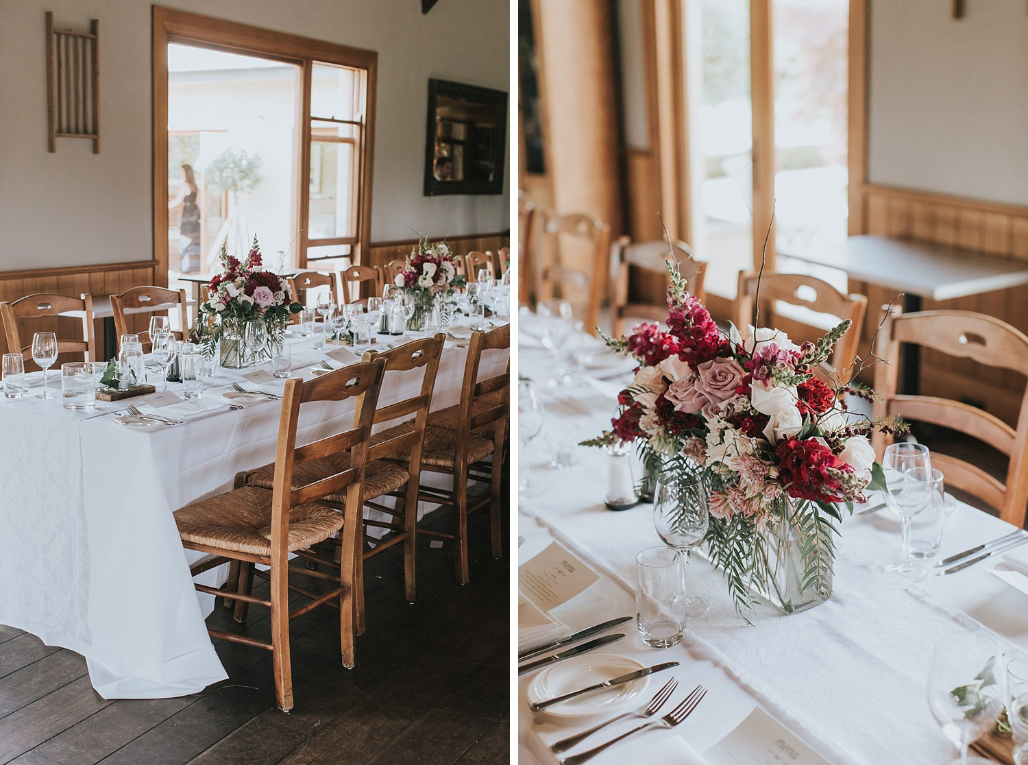 pretty wedding styling at centennial vineyards bowral