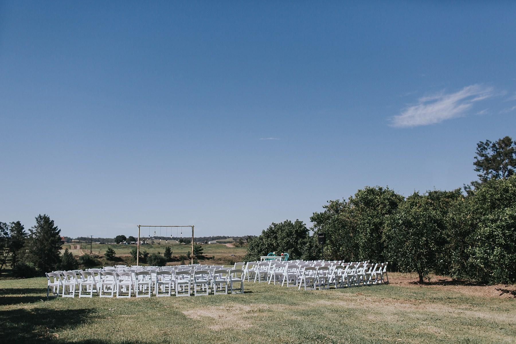 wedding ceremony set up at cornwallis house