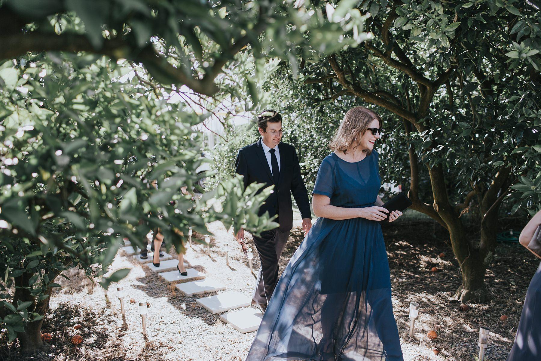 outdoor wedding ceremony at cornwallis house