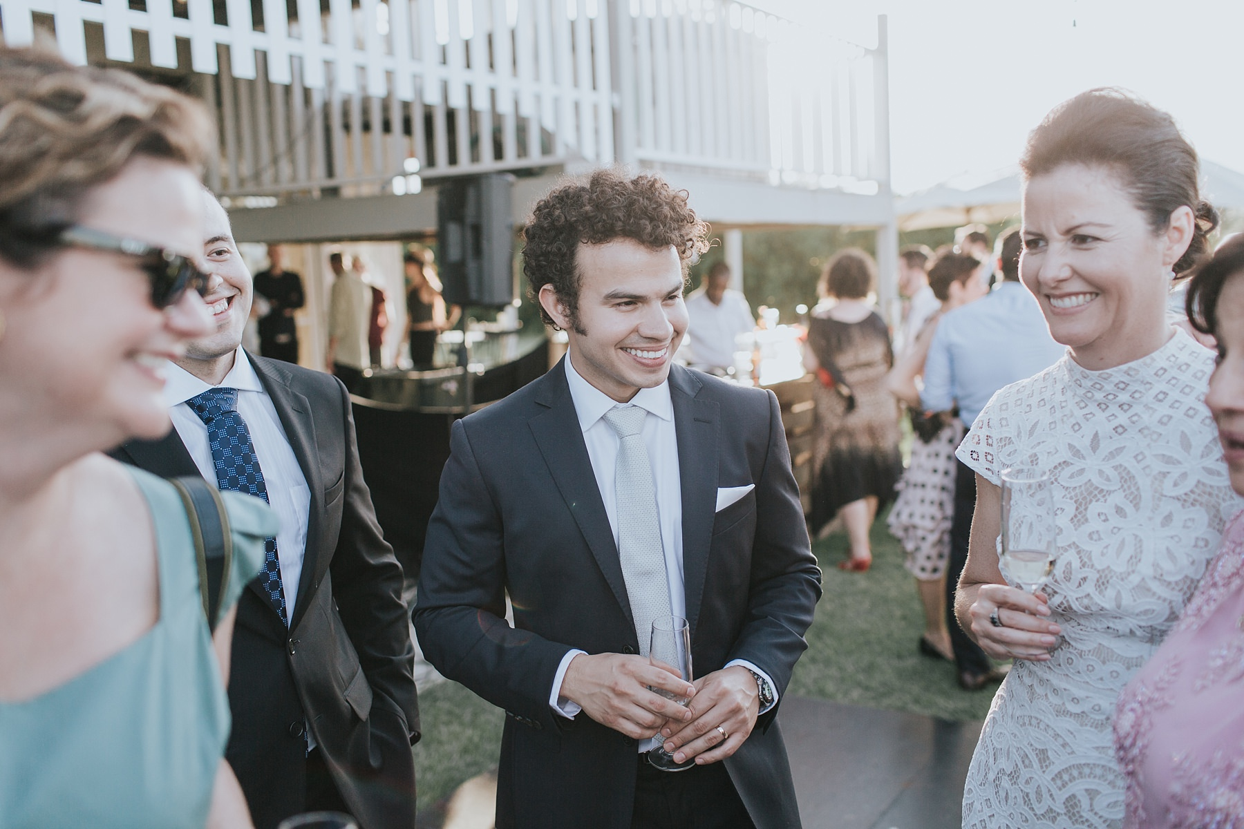 groom candid photos after wedding ceremony