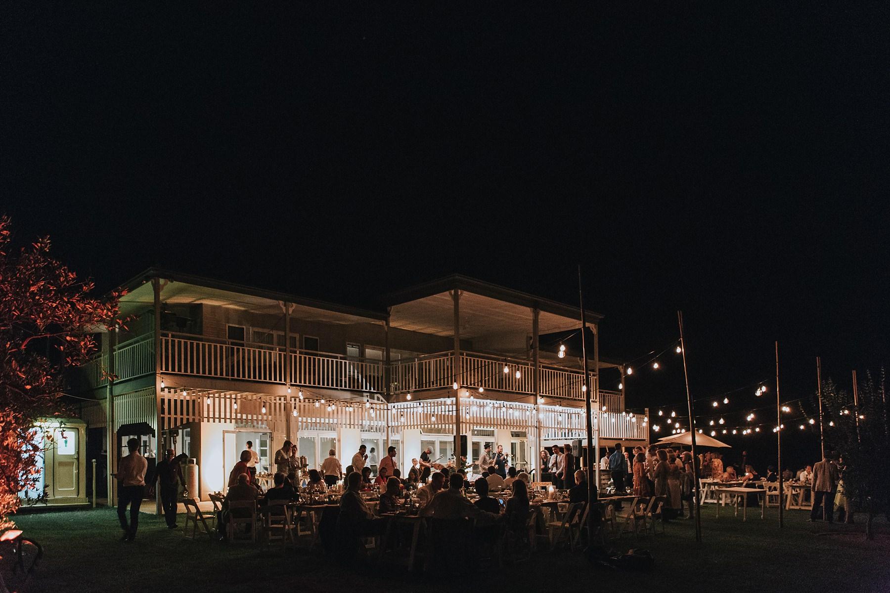cornwallis house at night during wedding