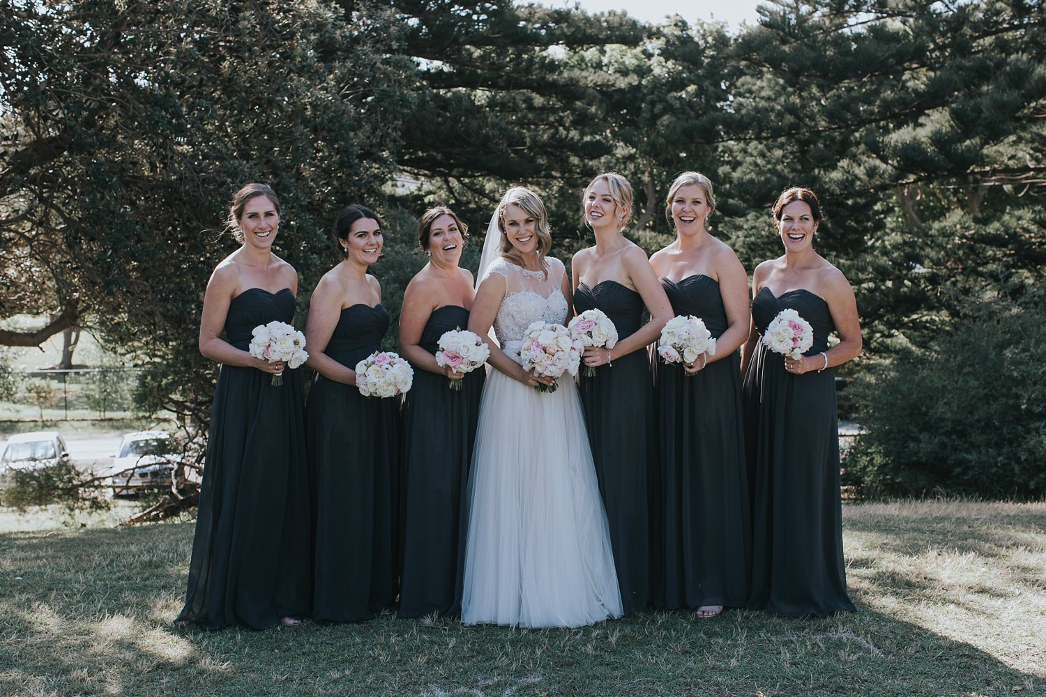 bridesmaids portraits at dunes restaurant