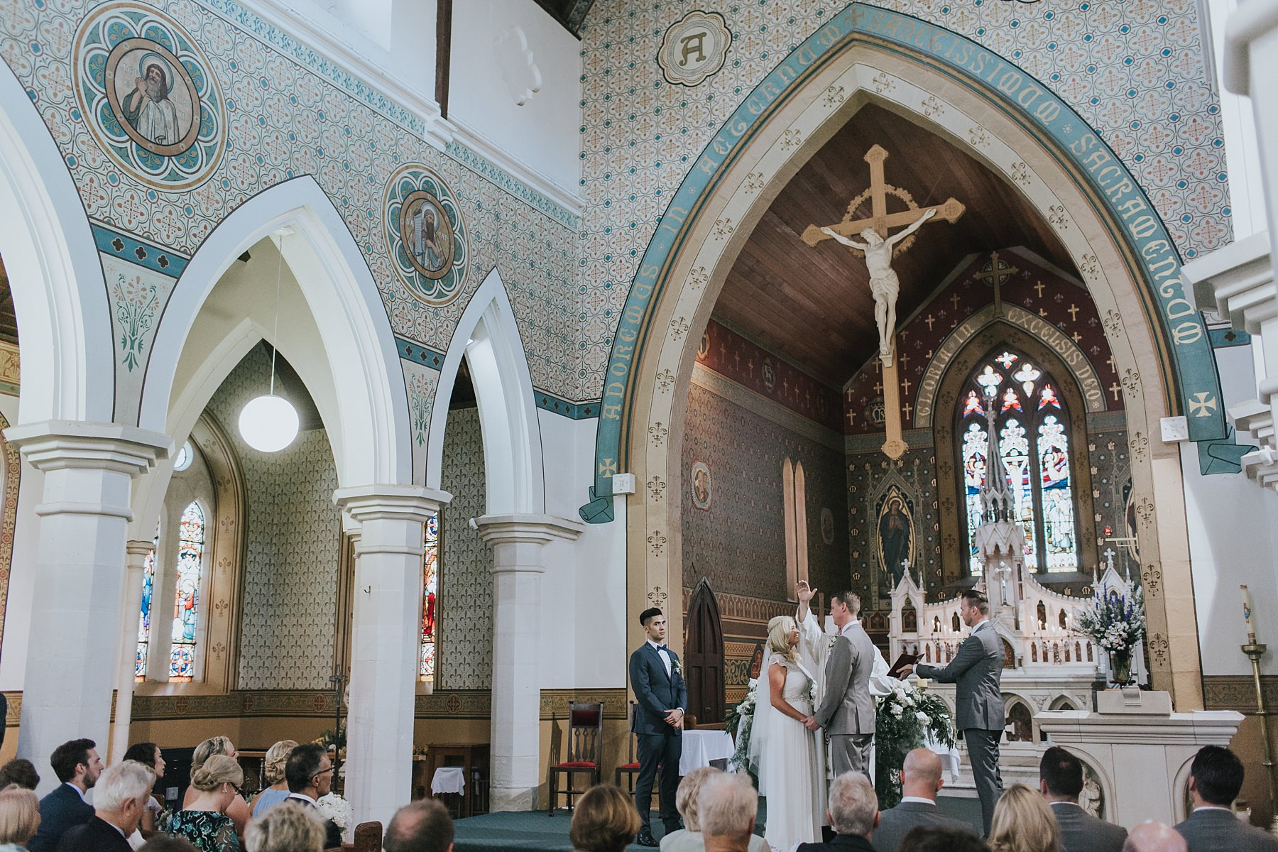 wedding photograph at st marys catholic church mudgee