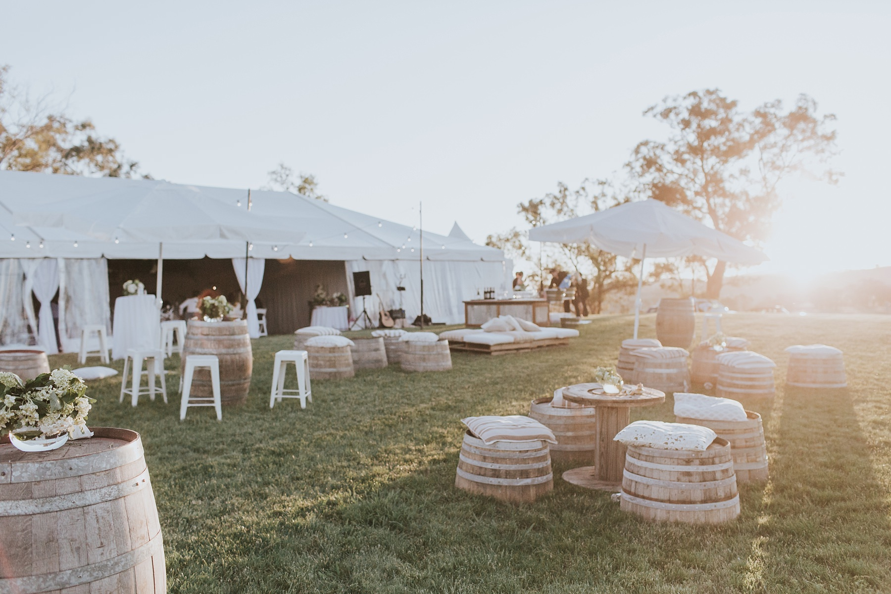 wedding styling for marquee wedding in mudgee
