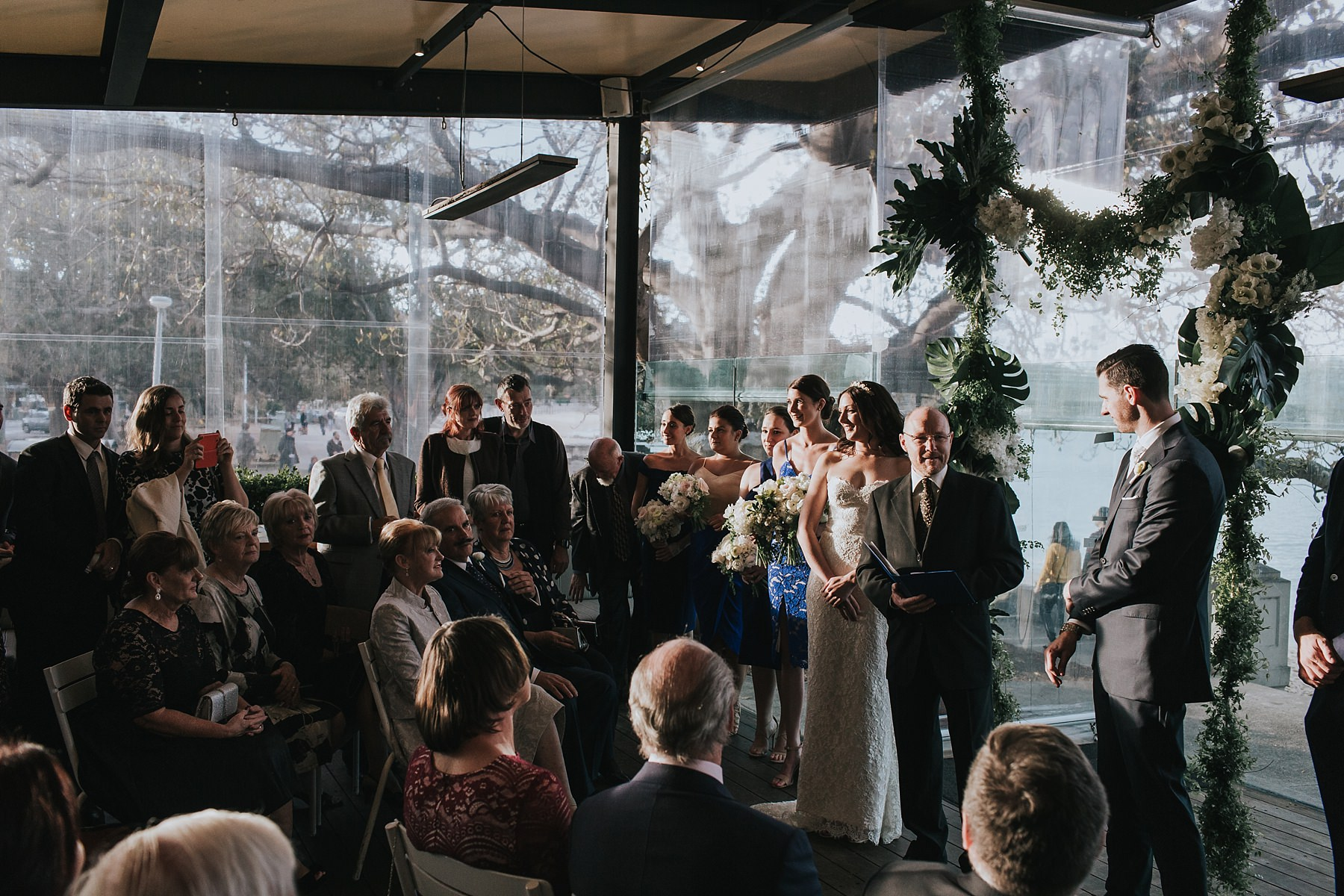 public dining room wedding ceremony photographs