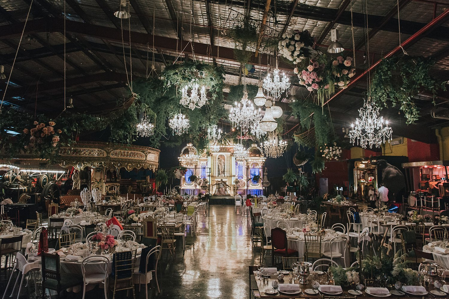 wedding ceremony styling by she designs at fairground follies sydney