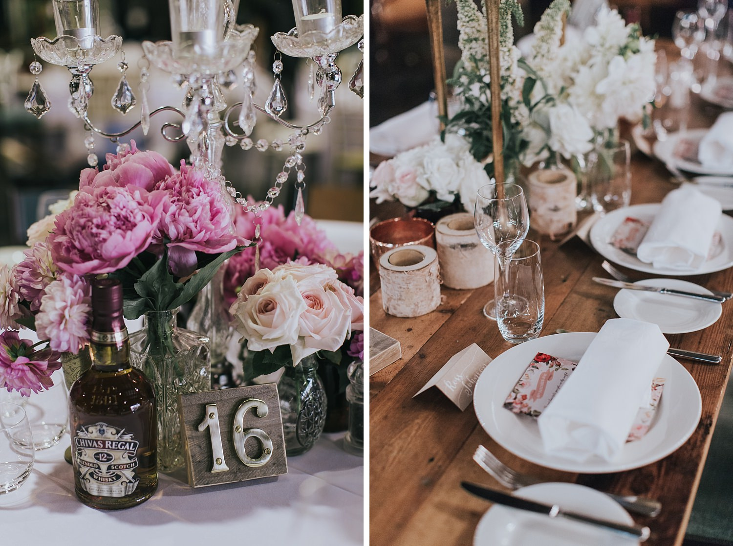 wedding reception details styled by she designs events