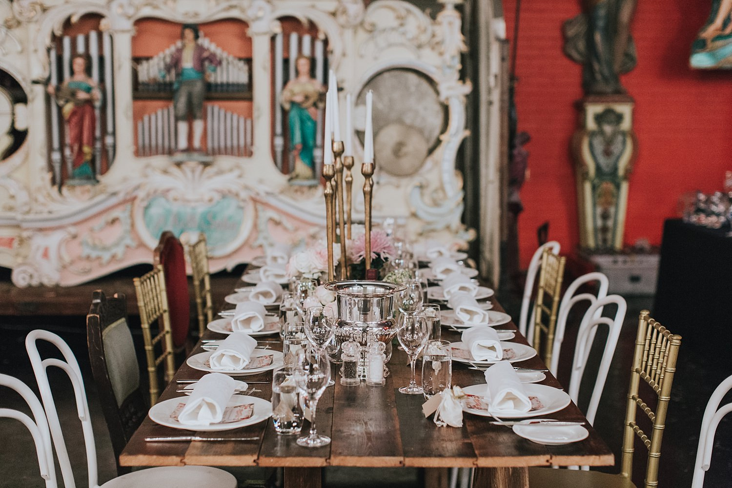 wedding table reception styling at fairground follies