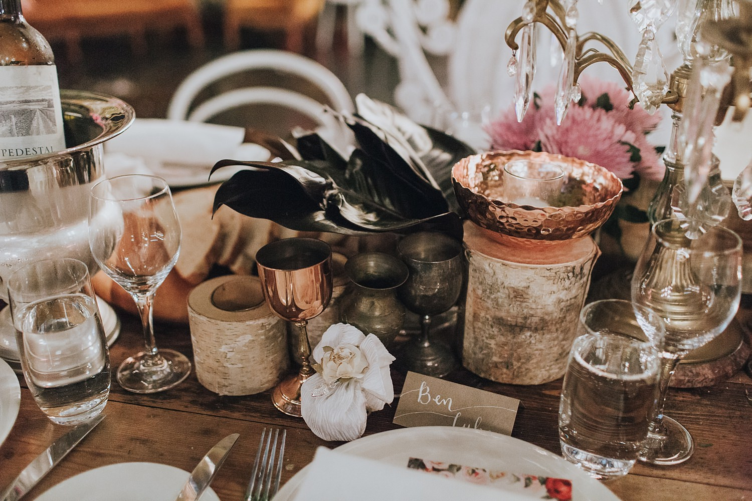 table styling by she designs at wedding reception