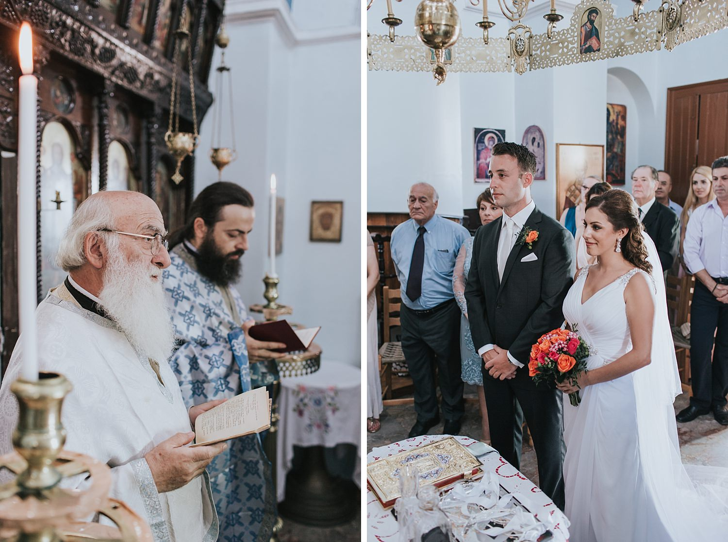 sacrament of marriage in skiathos greek orthodox church