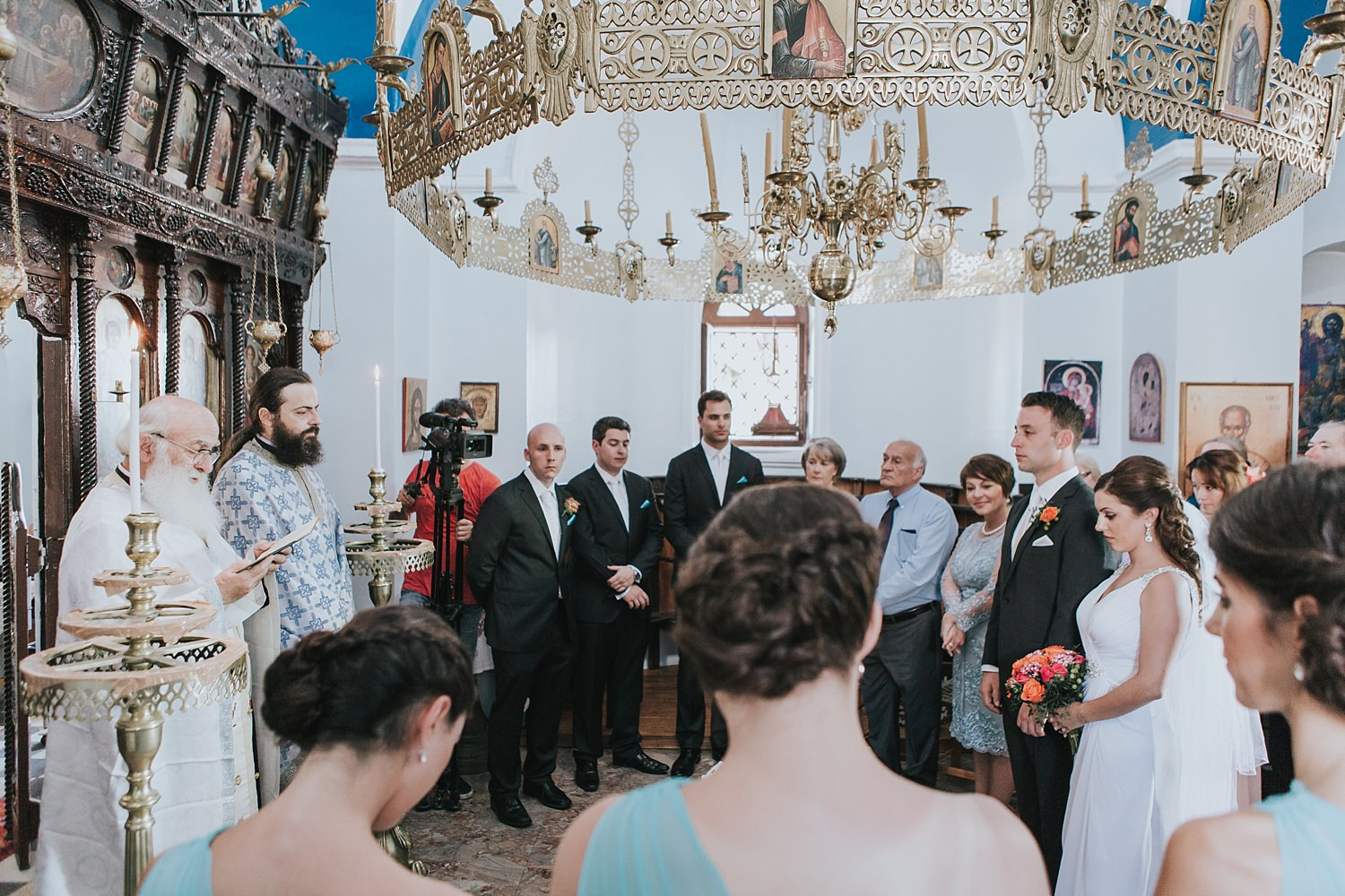 small greek orthodox wedding ceremony