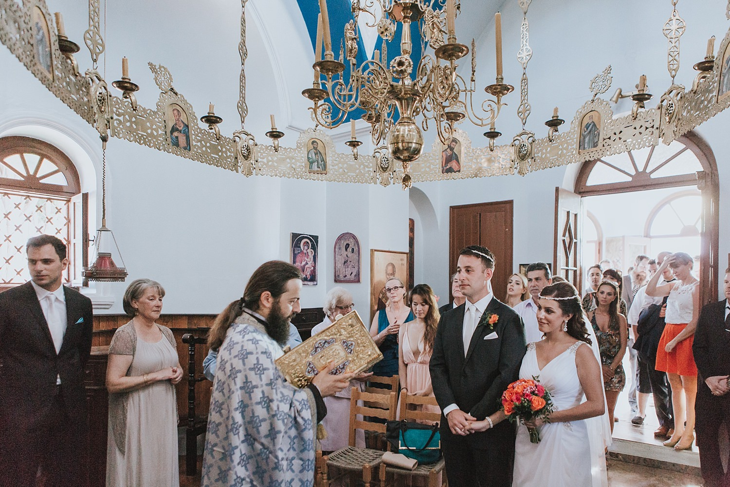 orthodox church wedding ceremony greek islands